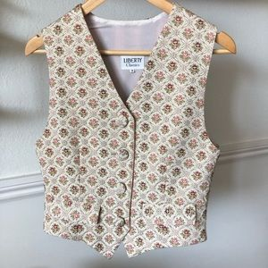 Vintage Liberty of London Tapestry Vest